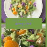 Frisée & Citrus Salad with sliced radishes and Avocado Dressing