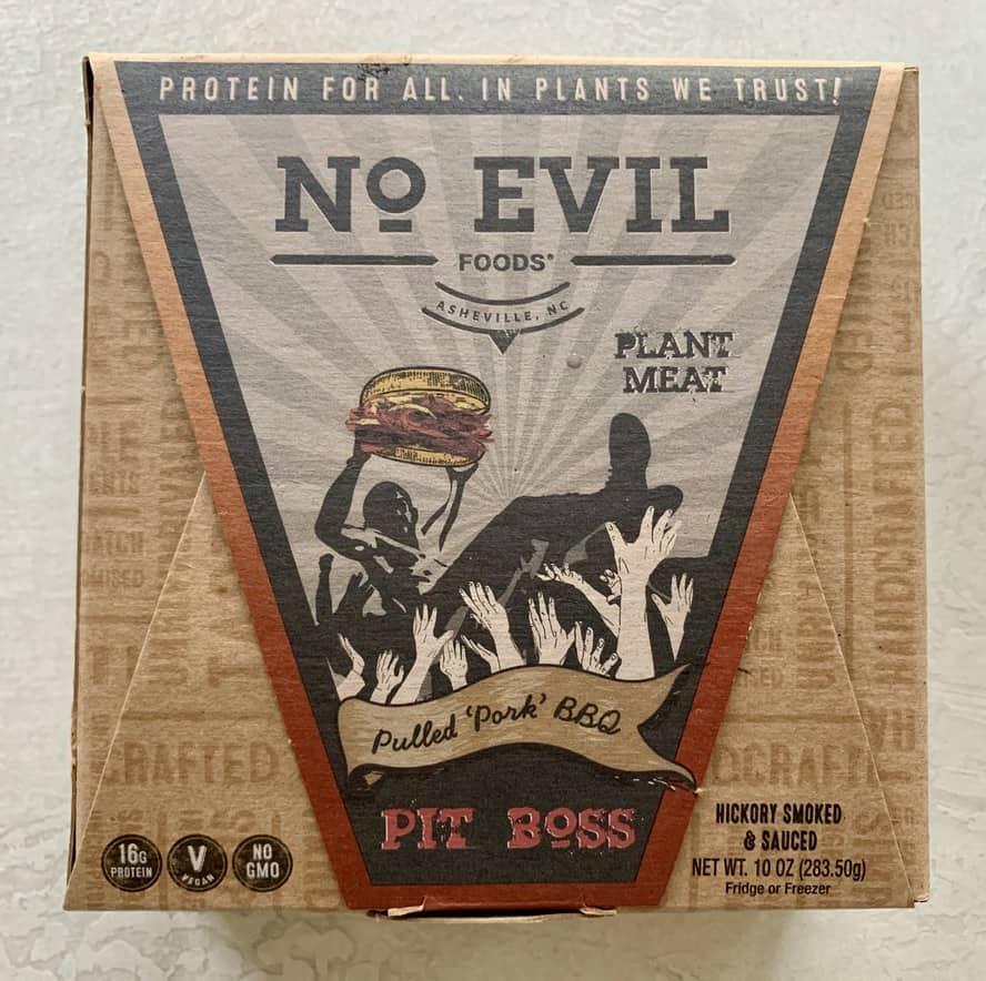 "Packaged No Evil Pulled ""Pork"" BBQ"