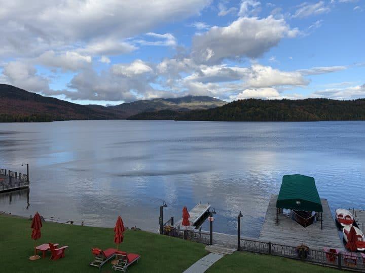 Lake Placid Lodge view of dock