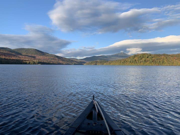 Canoe in Lake Placid