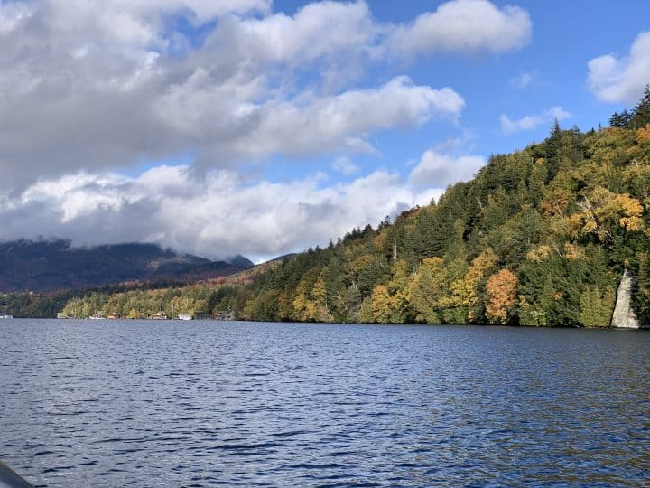 A view from boating on Lake Placid