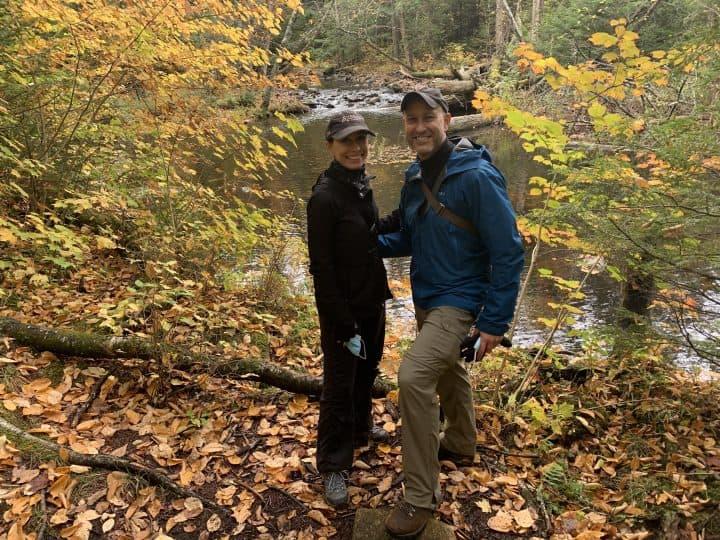 Chef Cindy & husband on a hike