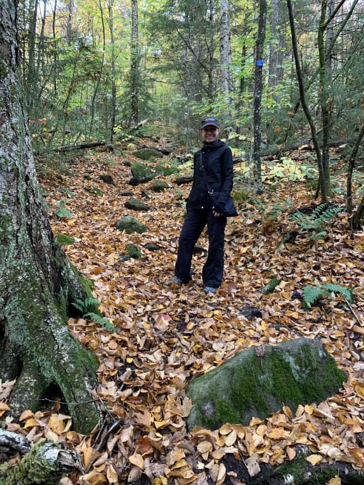 Chef Cindy on hiking trail