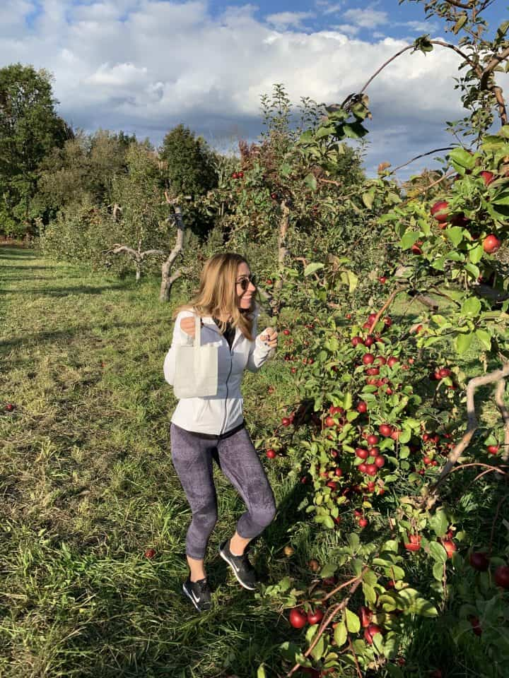 Chef Cindy excited about apple picking