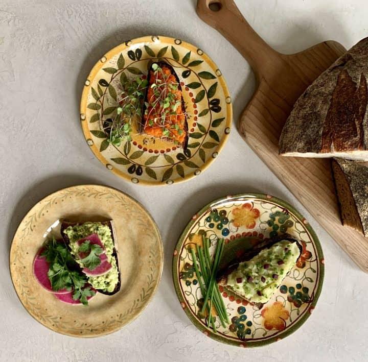 Savory Breakfast Toast Trio with Fresh Bread