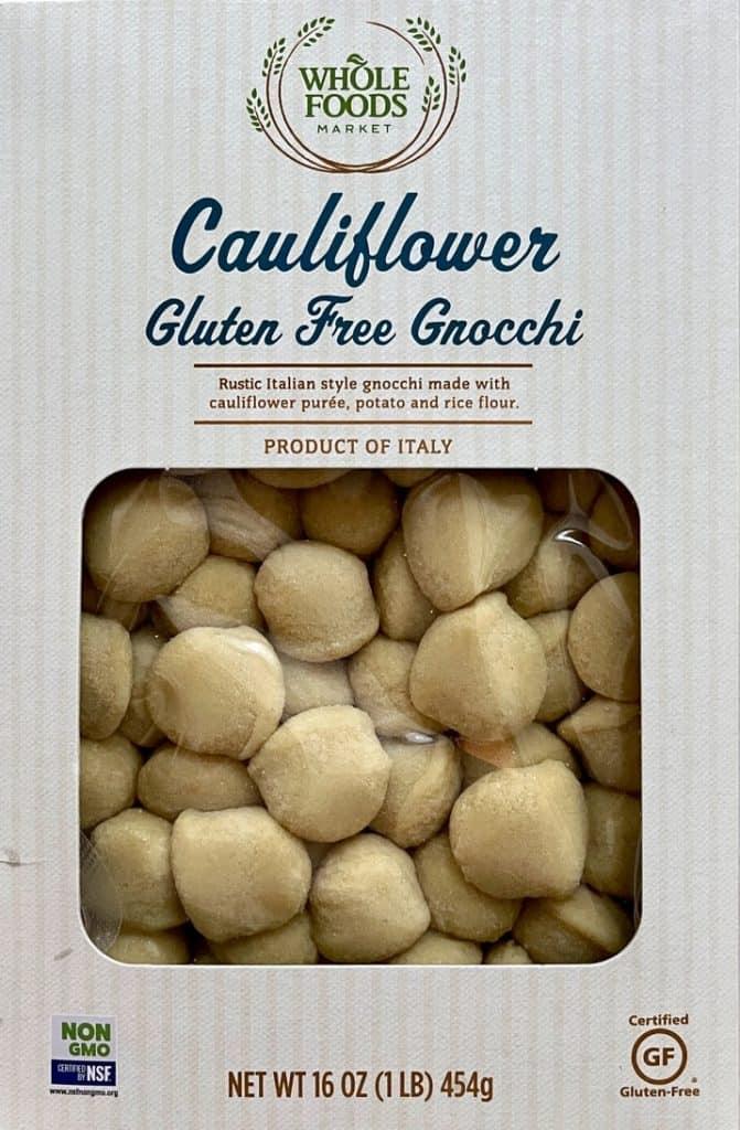 Whole Foods Packaged Cauliflower Gluten Free Gnocchi