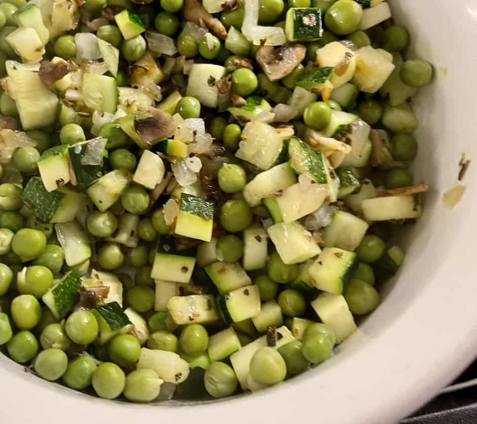 Veggie mix for gnocchi recipe